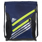 Adidas Strength Sack Backpack (Midnight Indigo/Solar Yellow) - Tennis Racquet Bags
