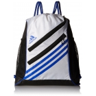 Adidas Strength Sack Backpack (White/Bold Blue) - Tennis Racquet Bags