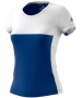 Adidas Women's T16 CC Team Tennis Tee (Blue/White) - Adidas Women's Tennis Apparel