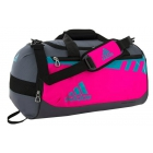Adidas Team Issue Small Duffel Bag (Shock Pink/Shock Green/Onix) - Tennis Racquet Bags