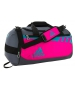 Adidas Team Issue Small Duffel Bag (Shock Pink/Shock Green/Onix) - Adidas Tennis Bags