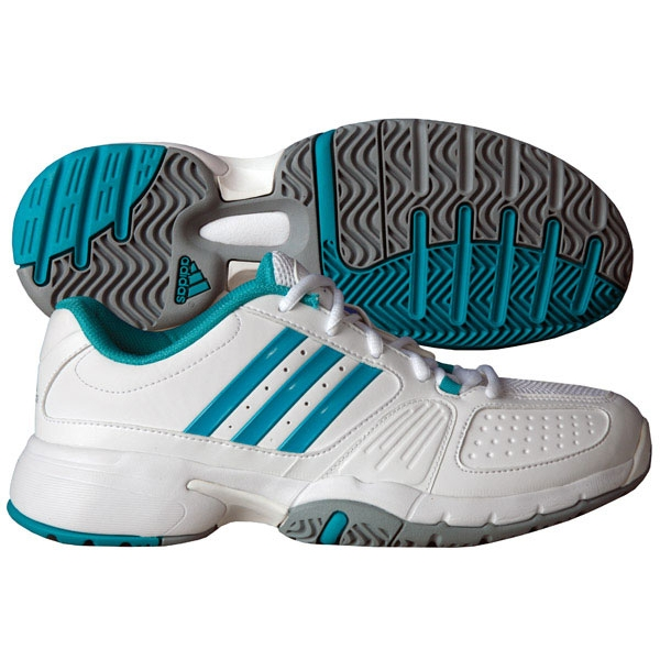 Adidas Women's adipower Barricade Team 2.0 (Wht/ Teal/Sil)