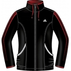 Adidas Women's Response Warm-Up Jacket (Black/Orange) - Women's Outerwear Warm-Ups Tennis Apparel