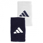 Adidas Interval Large Tennis Wristbands (Navy & Wht) - Tennis Accessories