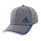 Adidas Men's Velocity Stretch Fit Cap (Grey/Clear Onix/Mineral Blue) - Tennis Hats