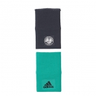 Adidas Roland Garros Large Tennis Player Wristband (Core Green/Night Grey) - Adidas Headbands & Wristbands
