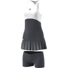 adidas Women's 2017 Roland-Garros On-Court Dress (Night Grey/White) - Adidas Tennis Apparel