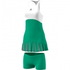 adidas Women's 2017 Roland-Garros On-Court Dress (Core Green/White) - Women's Dresses