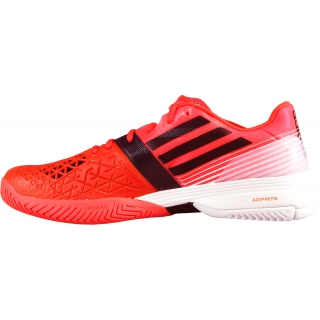 san francisco 3d906 f72ff Adidas Mens CC adiZero Feather III Tennis Shoes (Red Black White)
