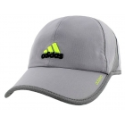 Adidas Men's Adizero II Cap (Grey/ Black/ Lime) - Tennis Hats