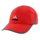Adidas Men's Adizero II Cap (Red/ Black/ Heather) - Tennis Hats