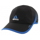 Adidas Men's Adizero II Cap (Black/ Blue/ White) - Adidas Caps & Visors Tennis Apparel