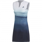 Adidas Women's Parley Tennis Dress (White/Easy Blue) - Adidas Women's Tennis Dresses, Jackets & Pants