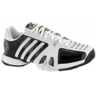 Adidas Barricade Novak Pro Mens Tennis Shoes (Black/ White/ Gold) - Men's Tennis Shoes