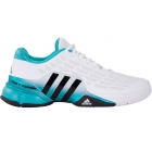 Adidas Men's Barricade Tennis Shoes (White/ Black/ Green) - Adidas Barricade Tennis Shoes