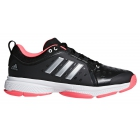 Adidas Men's Barricade Classic Bounce Tennis Shoes (Black/Matte Silver/Flash Red) - Performance Tennis Shoes
