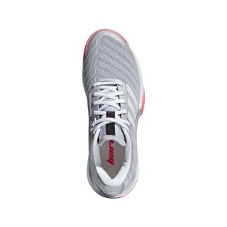 Adidas Women s Barricade LTD Tennis Shoe (Matte Silver White Flash Red) fa3d342a1
