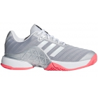 Adidas Women's Barricade Tennis Shoe (Matte Silver/White/Flash Red) - New Tennis Shoes