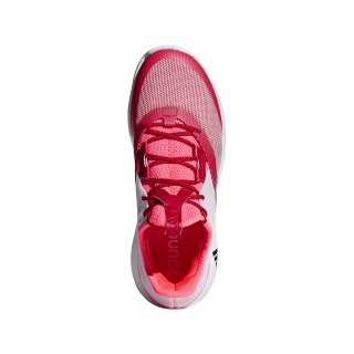 Adidas Women's Adizero Defiant Bounce Tennis Shoes (Flash Red/White/Scarlet)