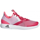Adidas Women's Adizero Defiant Bounce Tennis Shoes (Flash Red/White/Scarlet) - Tennis Shoes