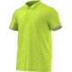 Adidas Men's Uncontrol Climachill Polo (Lime/ Silver) - Men's Tops Tennis Apparel