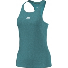 Adidas Women`s Uncontrol Climachill Tank (Shock Green/ Silver) - Women's Tennis Apparel