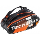Tecnifibre Air Endurance 12R Tennis Bag (Black/Orange) - Tecnifibre Endurance Tennis Bags and Backpacks