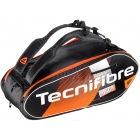 Tecnifibre Air Endurance 9R Tennis Bag (Black/Orange) - Tecnifibre Endurance Tennis Bags and Backpacks