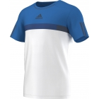 Adidas Men's Barricade Tee (White/ Shock Blue) - Men's Adidas Apparel