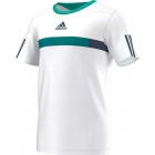 Adidas Men's Barricade Tee (White/ Dark Blue/ Green) - Men's Adidas Apparel