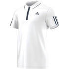 Adidas Men's Barricade Polo (White/ Dark Blue) - Men's Adidas Apparel