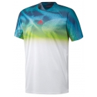 Adidas Men's Adizero Tee (White/ Eqt Green) - Adidas Men's Apparel