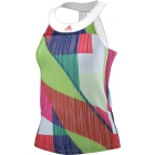 Adidas Women's adiZero Tank (White/ Shock Red) - Women's Adidas Apparel