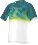 Adidas Boys' Barricade Tee (White/ Shock Red/ Mineral Blue) - Discount Tennis Apparel