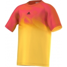 Adidas Boys' Barricade Tee (Shock Gold/ Red) - Discount Tennis Apparel