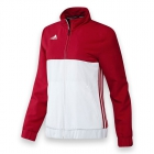 Adidas Women's T16 CC Team Tennis Jacket (Red/White) - Adidas Women's Tennis Dresses, Jackets & Pants