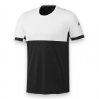 Adidas Men's T16 CC Team Tennis Tee (Black/White) - Men's Tennis Apparel