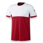 Adidas Men's T16 CC Team Tennis Tee (Red/White) - New Style Tennis Apparel