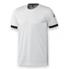 Adidas Men's T16 CC Team Tennis Tee (White/Black) - Men's T-Shirts & Crew Necks