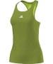 Adidas Women`s Uncontrol Climachill Tank (Lime/ Silver) - Women's Tops Tank Tops Tennis Apparel