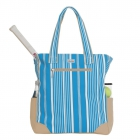 Ame & Lulu Ticking Stripe Emerson Tennis Tote - Ame and Lulu Emerson Tennis Tote Bags