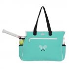 Ame & Lulu Kensington Crossed Racquet Tennis Court Bag (Aqua/Black) - Ame & Lulu Tennis Bags for Women