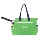 Ame & Lulu Kensington Crossed Racquet Tennis Court Bag (Green/Navy) - New Tennis Bags