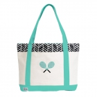 Ame & Lulu Black Shutters Tennis Lovers Tote Bag - Ame & Lulu Tennis Lovers Tote