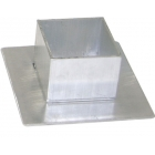 Aluminum Square Sleeve Covers - Tennis Posts