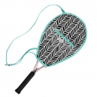 Ame & Lulu Black Shutters Riley Tennis Racquet Cover - Tennis Racquet Covers