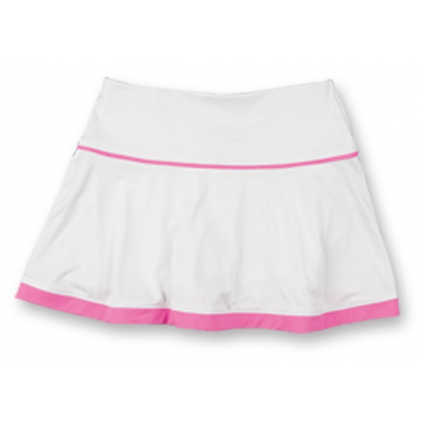 Little Miss Tennis Flared Skort (Wht/ Pnk)