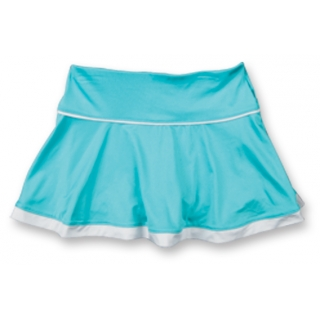 Little Miss Tennis Flared Skort (Aqua/ Wht)