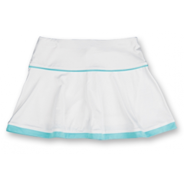 Little Miss Tennis Flared Skort (Wht/ Aqua)