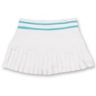 Little Miss Tennis Small Pleats Skort (White/ Aqua) - Girls's Tennis Apparel